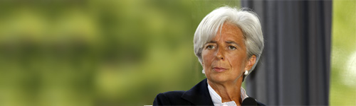 Christine Lagarde: Image used under licence of MEDEF.