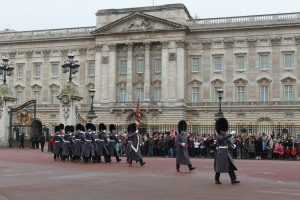 Buckingham Palace; home of the British monarchy