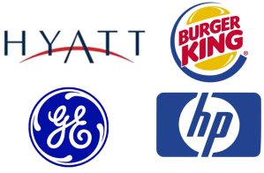 Hyatt, Burger King, General Electric, HP