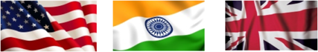 Intercultural talent management  Indian Flag US flag Union JAck