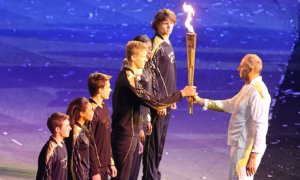 Steve Redgrave at the Olympics opening ceremony 2012