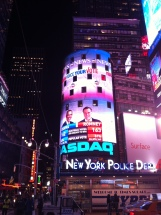 Presidential Election night in New York 2012