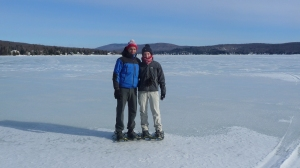 On the frozen Lac Saint Joseph