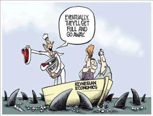 Keynesian economics cartoon
