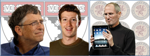 Bill Gates, Steve Jobs and Mark Zuckerberg