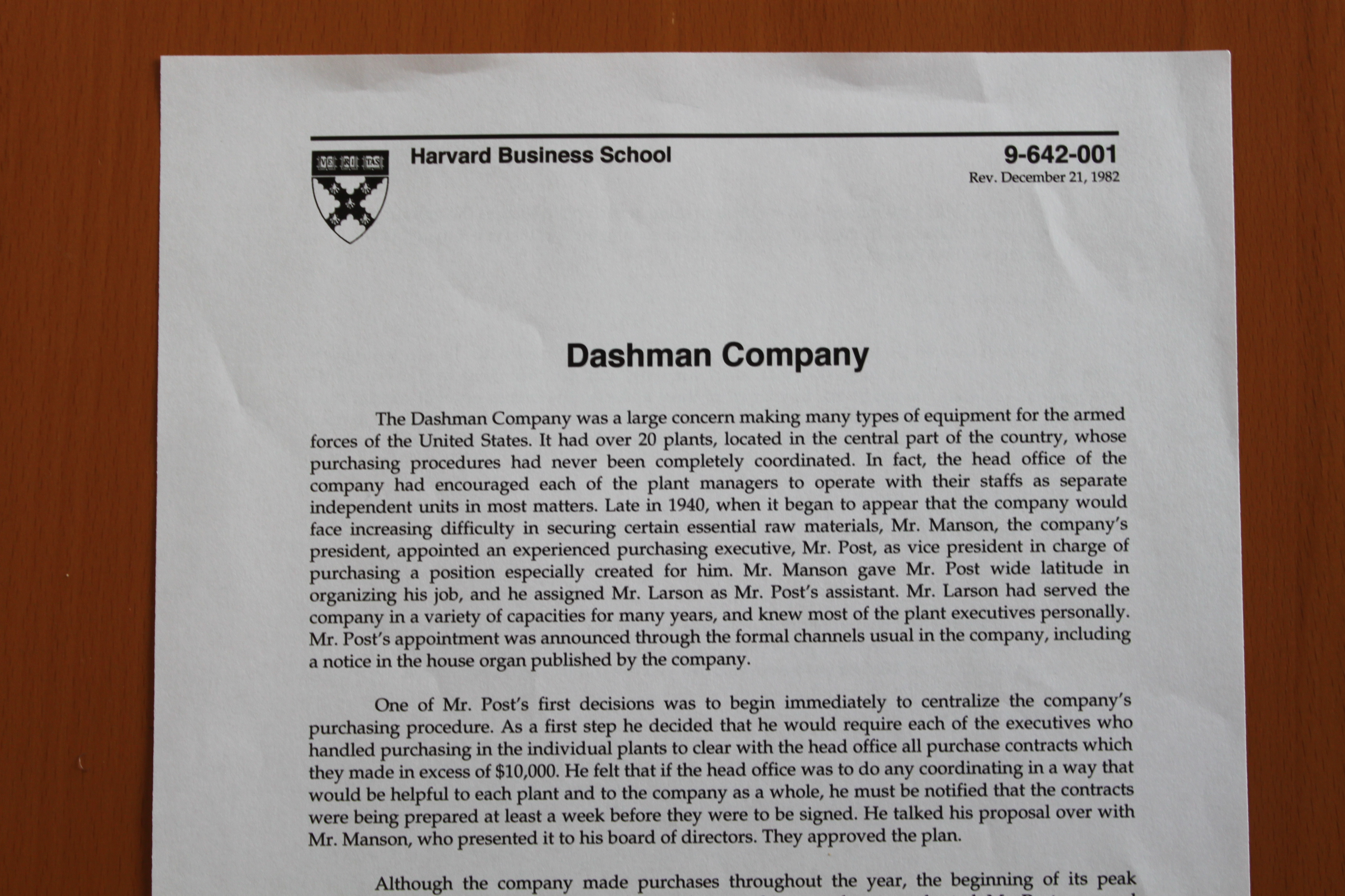 harvard mba case studies