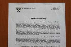 Harvard Business School, Dashman Case