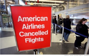 Canceled and delayed flights at American Airlines are costing the airline the key business customers that the bankrupt carrier needs.