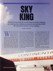 Within two years of this article, Continental Airlines was in bankruptcy and Texas Air dismantled.