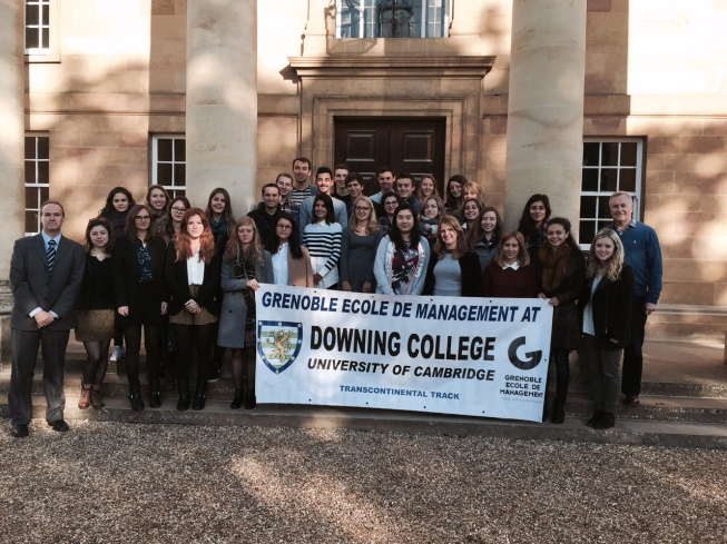 First day at Downing College, University of Cambridge